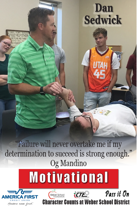 "Dan Sedwick - Motivational ""Failure will never overtake me if my determination to succeed is strong enough."" Og Mandino"