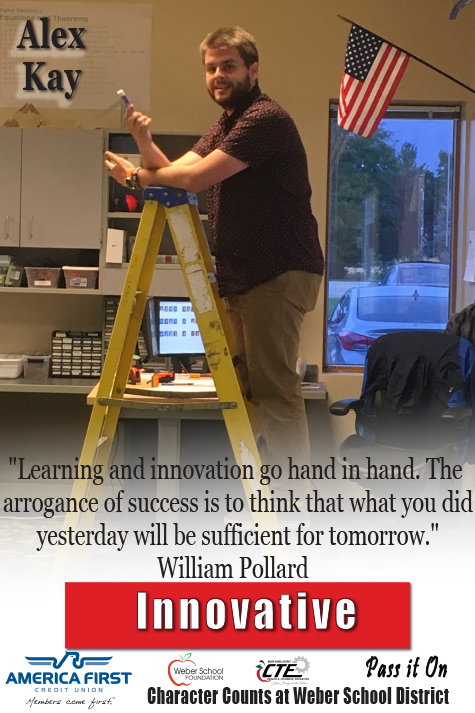 "Alex Kay - Innovative ""Learning and innovation go hand in hand. The arrogance of success is to think that what you did yesterday will be sufficient for tomorrow."" William Pollard"