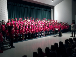 Majestic students sing in the School Choir's Christmas Performance