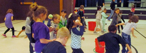 By Following Rules, Roy Elementary Students earn Ram Bucks for an Indoor Snowball Activity
