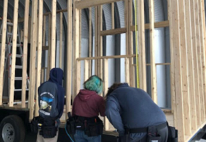 "The Construction Magnet class at Weber Innovation High School is building ""Tiny Homes"""