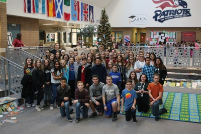Wahlquist Jr. Students pose for photo at Madison Elementary