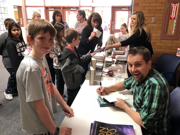 Municipal Elementary Students Meet Author Frank Cole