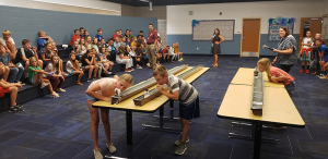5th Grade Students at Valley Elementary Compete in Boat Races