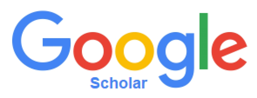 Logotipo do Google Scholar com link externo para exibir a página da Revista no indexador