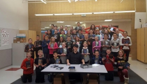 Author Lance Conrad came to West Haven to talk to 6th graders about good writing, creativity and having dreams