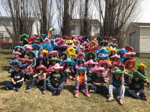 Midland 5th grade traditional Easter Bonnets!