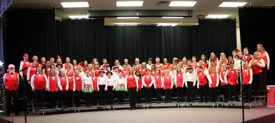 West Haven Elementary choir students host a concert for their families and the West Haven community