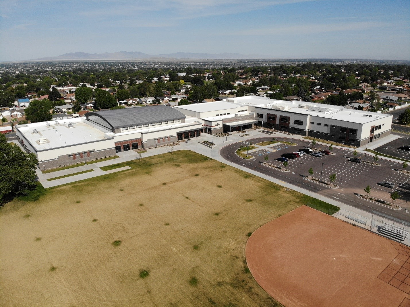 Aerial photo of Roy Jr High