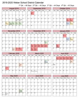 Utah State University Spring Break 2020.Calendar