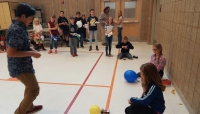 West Haven students participate in balloon car tryouts for the Math and Science Olympiad