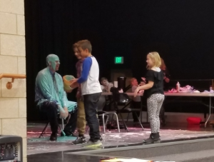 Burch Creek Elementary celebrates reaching fundraiser goal by covering the Principal in slime!