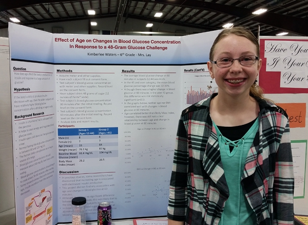 Kanesville Elementary 6th grade student performed well at the district and regional science fairs