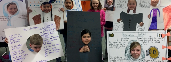 Midland 3rd Graders Help Us Learn About Some Famous Faces