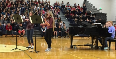 Orion Students perform at their annual Holiday Talent Assembly