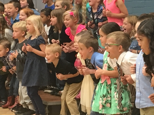 Farr West kindergarten students let loose at graduation