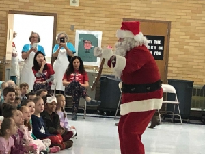 Santa came to Bates Elementary