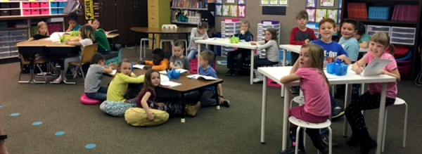 Some Classrooms at Uintah Elementary Try Out Open Seating Concept