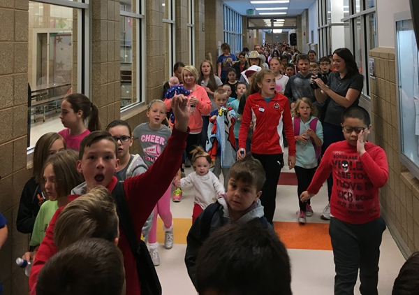 West Haven Elementary Hosts Annual Hawk Walk