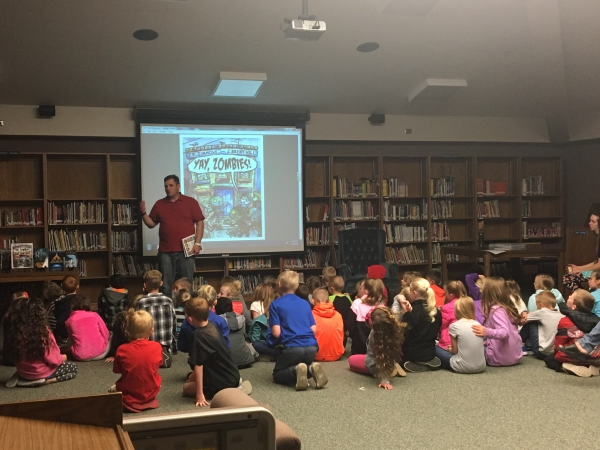 Author JR Simmons visits Farr West Elementary