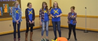 All-girls team at Project Lead the Way programs competitive robot