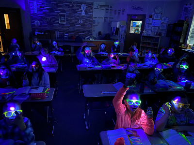 Learning is Black Light Magic at Freedom!