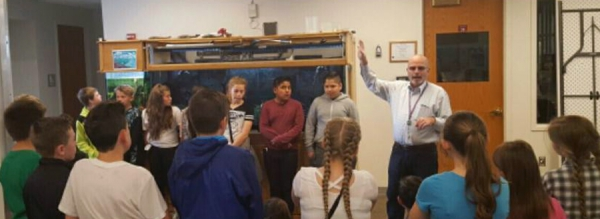 West Haven 6th graders learn about the water cycle and microbes by visiting the Syracuse Water Treatment plant