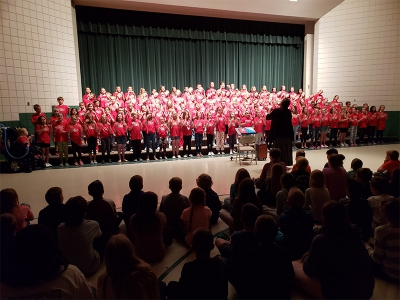Majestic Elementary students hold their Spring Choir performance