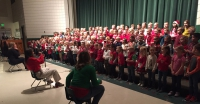 Kindergarten students at Majestic Elementary perform in Christmas program