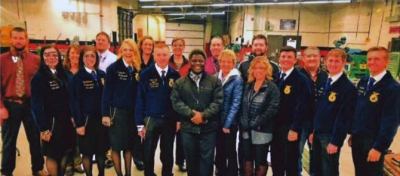 National FFA Western Region Vice President Bryce Cluff tours the Beehive State for National FFA Week.