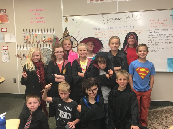 Farr West students celebrate Harry Potter Day