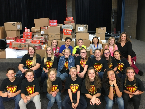 West Haven Elementary collects 2,986 cans of food for the Salvation Army